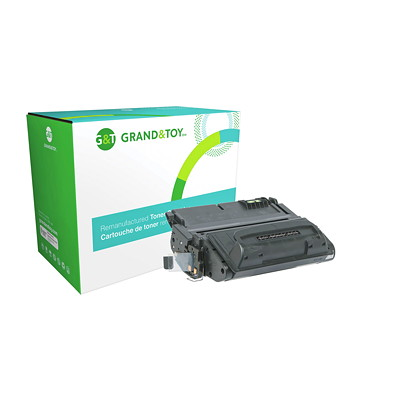 Grand & Toy Reman Toner HP Q5942A Black Standard Yield LASERJET 4250/4350 SMARTPRINT 10 000 PG YLD  RPL SKU# 99700