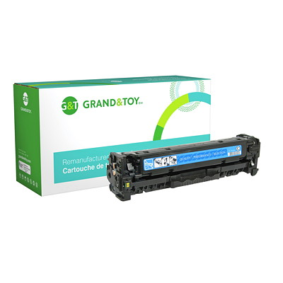 Grand & Toy Reman Toner HP CE411A Cyan Standard Yield HP L/J PRO 300 COLOR M351 MFP M375; (305A); YLD 2 600
