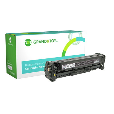 Grand & Toy Reman Toner HP CE410X Black High Yield  HP L/J PRO 300 COLOR M351 MFP M375; (305X); H/Y 4 000