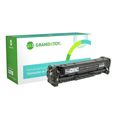 Grand & Toy Remanufactured HP 305A Black Standard Yield Toner Cartridge (CE410A) HP L/J PRO 300 COLOR M351 MFP M375; (305A); YLD 2 200