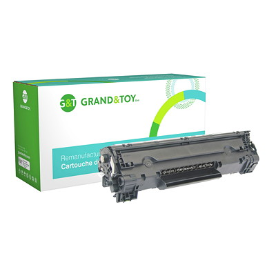 Grand & Toy Remanufactured Canon 128 Black Standard Yield Toner Cartridge (3500B001AA) (3500B001AA)FAXPHONE L100 190 IMAGECLASS:D530 D550- YLD 2100