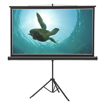 "Quartet Wide-Format Projection Screen with Tripod Base TRIPOD BASE - 52"" X 92"""
