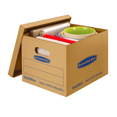 Bankers Box SmoothMove Classic Storage Boxes  NO TAPE REQUIRED FOR ASSEMBLY DURABLE DOUBLE CONSTRUCTION