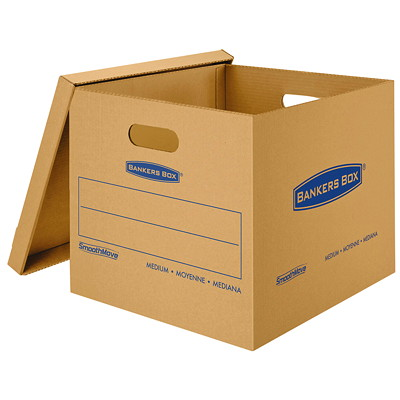 Bankers Box SmoothMove Classic Storage Boxes, Medium  NO TAPE REQUIRED FOR ASSEMBLY DURABLE DOUBLE CONSTRUCTION