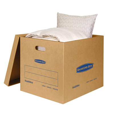 Bankers Box SmoothMove Classic Storage Boxes, Large  NO TAPE REQUIRED FOR ASSEMBLY DURABLE DOUBLE CONSTRUCTION