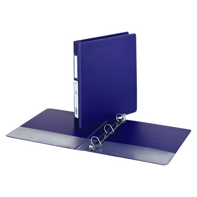 "Grand & Toy Economy Letter-size (8 1/2"" x 11"") D-Ring Binder SUEDE GRAINED VINYL 2 INSIDE POCKETS 250 SHEET CAPACITY"