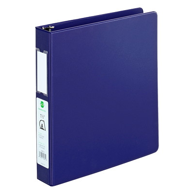 "Grand & Toy Economy Letter-size (8 1/2"" x 11"") D-Ring Binder LTR SUEDE GRAINED VINYL 2 INSIDE POCKETS 400SHT CAPACITY"