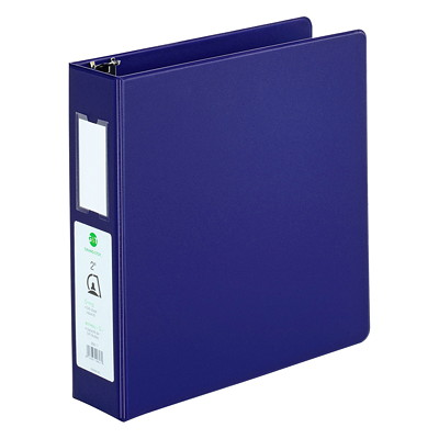 "Grand & Toy Economy Letter-size (8 1/2"" x 11"") D-Ring Binder SUEDE GRAINED VINYL 2 INSIDE POCKETS 525 SHEET CAPACITY"
