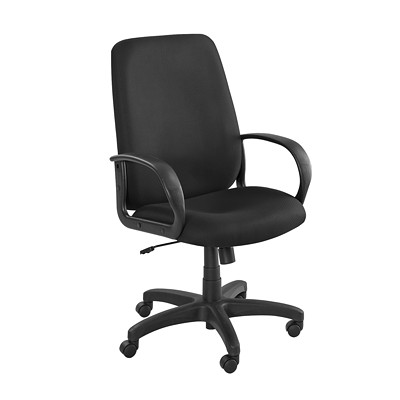 Safco Poise Executive Seating, High-Back, Black  DEEP CONTOURS