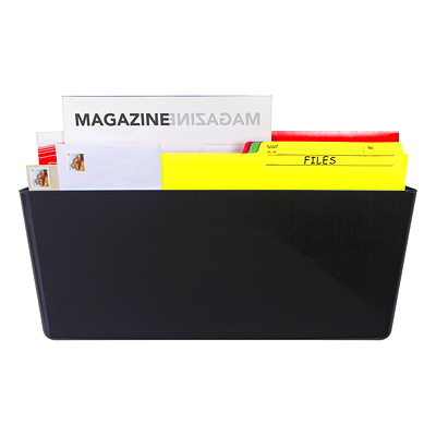Storex Magnetic Wall File Pocket, Black, Legal Size  100% POST CONSUMER - BLACK MAGNETIC - LEGAL