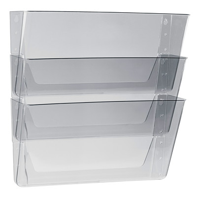 Storex Clear Wall File Pockets