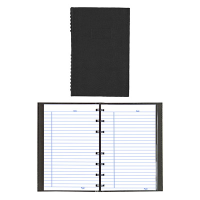 Blueline NotePro Coiled Notebook BINDING W/ HARD LIZARD-LIKE COVER  BLK  150 PAGES W/MARGIN