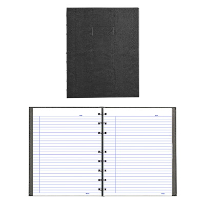 Blueline NotePro Coiled Notebook BLACK LIZARD COVER 9-1/4X7-1/4 150 PAGES TWIN WIRE BINDING