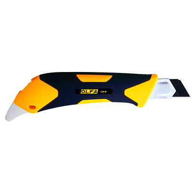 OLFA Heavy-Duty Rubber Grip Reinforced Utility Knife W/ANTI-SLIP RUBBER GRIP HANDLE SNAP-OFF CUTTER BLADES-18MM
