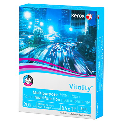 Xerox Vitality Multi-Purpose Printer Paper 92 BRIGHT 20LB