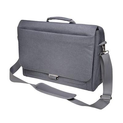 Kensington LM340 Messenger Bag WHEEL LUGGAGE HANDLE PASS-THRU GREY