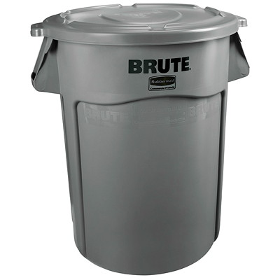 Rubbermaid Commercial Brute Vented 44-Gallon Container, Grey GRAY