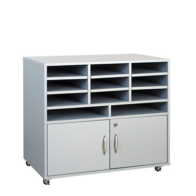 "HDL Subra Machine Cabinet with Storage 32.3""W X 19.3""D X 28.9""H GREY PVC LAMINATE FINISH"