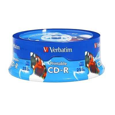 Verbatim Inkjet Printable CD-R SPINDLE-WHITE HUB