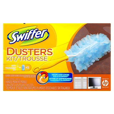 Swiffer Unscented Duster Kit 1 HANDLE + 5 DUSTER REFILLS