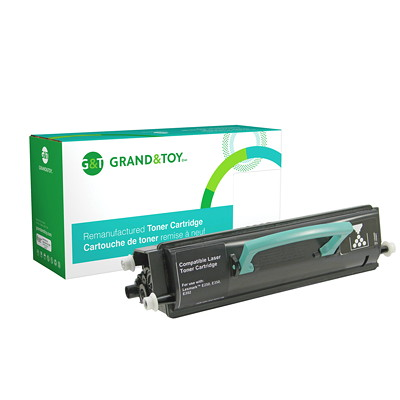 Grand & Toy Remanufactured Lexmark E250 Black High Yield Compatible Laser Cartridge E350D  E352DN (E350) H/Y 9 000  RPL #98372
