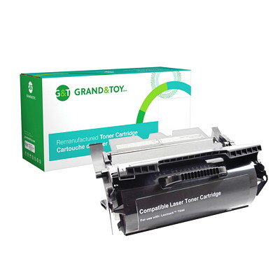 Grand & Toy Remanufactured Lexmark T644 Black Extra-High Yield Compatible Laser Cartridge T644; X644E  X646E  X646DTE (T644) EH/Y 32 000 RPL # 98379
