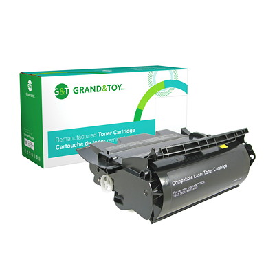 Grand & Toy Remanufactured Lexmark T630 Black High Yield Compatible Laser Cartridge T630  T632  T634 21 000 PG YLD  RPL SKU# 98376