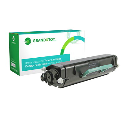 Grand & Toy Remanufactured Lexmark E260 Black Standard Yield Compatible Laser Cartridge E260D  E260DN  E360D 3 500 PG YLD  RPL SKU# 98369