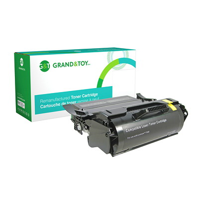 Grand & Toy Remanufactured Lexmark T650 Black High Yield Compatible Laser Cartridge T650 / T652 / T654 SERIES  HY 25 000 PG YLD  RPL SKU# 98381