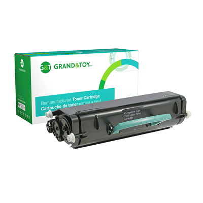 Grand & Toy Remanufactured Lexmark X364 Black High Yield Compatible Laser Cartridge X264H21G YIELD 9000