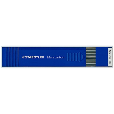 Staedtler Mars Carbon Pencil Lead Refills 12 PER PACK  130 MM LONG USE ON PAPER & DRAWING CARD