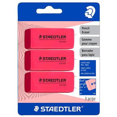 Staedtler Pink Pencil Erasers 3PCS BLISTER