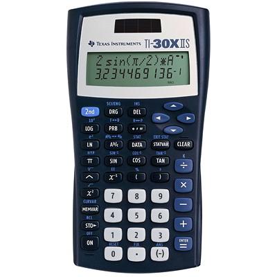 Calculatrice scientifique TI-30XIIS Texas Instruments SOLAIRE  2 LIGNES  5 TOUCHES MEMOIRE VARIABLE  ETUI 2A76BP
