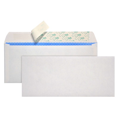 Quality Park Redi-Strip #10 White Self-Adhesive Security Envelopes 8.125X9.5 24LB BX/500