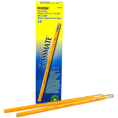 Dixon Classmate #2HB Tipped Wood Pencils TIPPED