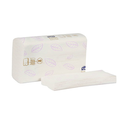 Tork Premium Extra-Soft Xpress Multifold Hand Towels 8 1/3W 13 3/5H 2PLY WHT W/LEAF EMB
