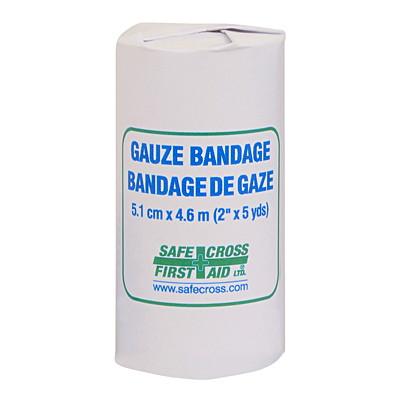 Rouleau de bandage de gaze SAFECROSS 5.1 CM X 4.6 M