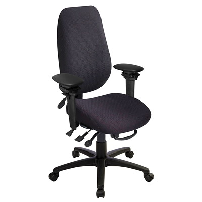 GEOCENTRIC EXTRA TALL BACK MULTI TILT  AIR LUMBAR FABRIC BACK AND SEAT  BLK
