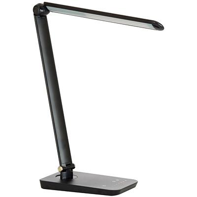 Safco Vamp LED Black Desk Lamp 9W  550 LUMENS  8 LIGHT LEVELS USB CHARGING PORT