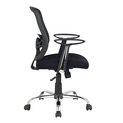 TygerClaw Air Grid Mid-Back Office Chair  MESH SEAT AND BACK ARMREST  CHROME BASE