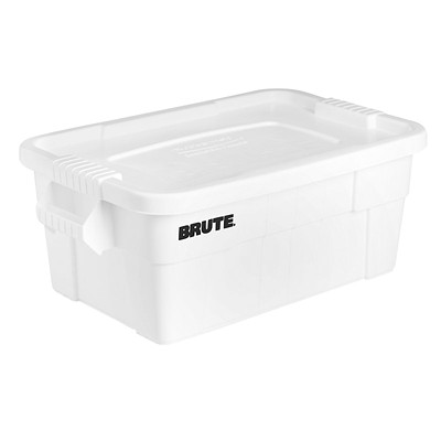 Rubbermaid Brute 53 L Tote With Lid, 6-Pack 14G/53L WHITE 6/CT