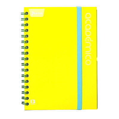 ACADEMICO NOTEBOOK 81/2X11 YEL 240 PGS  SUGARCANE PAPER