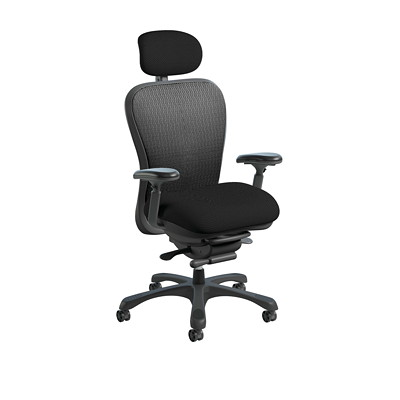 NIGHTINGALE CXO  CHAIR MESH BACK  FABRIC SEAT  ABLEX MESH  GR 2 BEEHAVE BEE09 BLK