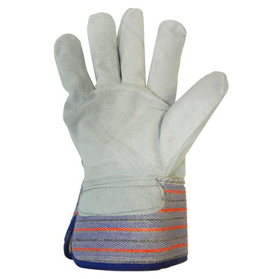 Ronco Split Leather Fitters Cold Resistant Gloves REINFORCED CANVAS SAFETY CUFF  WITH AN ELASTIC BACK