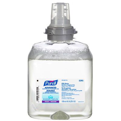Purell TFX Advanced Moisturizing Foam Hand Sanitizer Refills, 70% Alcohol Content, 1.2 L, 2/CT TXF 1.2-L