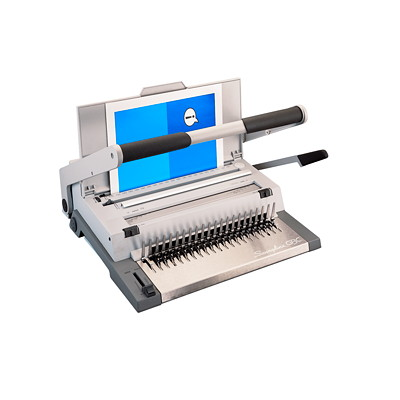 "Swingline GBC CombBind C500 Multi-Function Manual Come and Wire Binding Machine MANUAL BIND MACH LTR SIZE GRY 16 1/2""W X 16 1/3""D X 5""H"