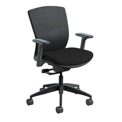 NIGHTINGALE  VXO CHAIR MESH BACK  FABRIC SEAT SEAT GR1 OPEN HOUSE F58 BLACK