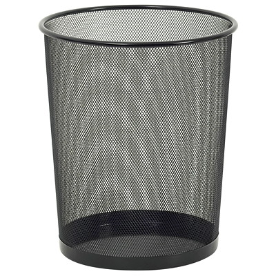 Merangue Black Mesh Wastebasket IDEAL FOR HOME OR OFFICE USE SUITABLE FOR PAPER AND OTHER O