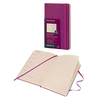 WEEKLY ACADEMIC PLANNER GRAPE  HARD COVER PERFECT BINDING  2PPW