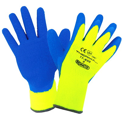 Ronco THERMAL Latex Coated Cold Resistant Glove LARGE COLD RESISTANT